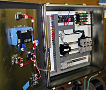Pempek industrial control panel angled view